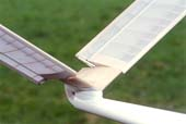 V-tail with Becker-rudder linkage